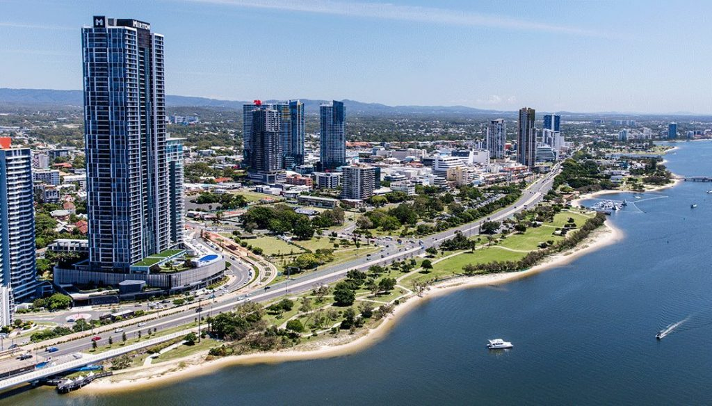 Aerial photo of Broadwater Parklands