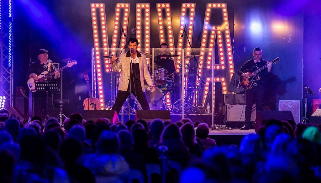 Elvis Tribute Artist on stage