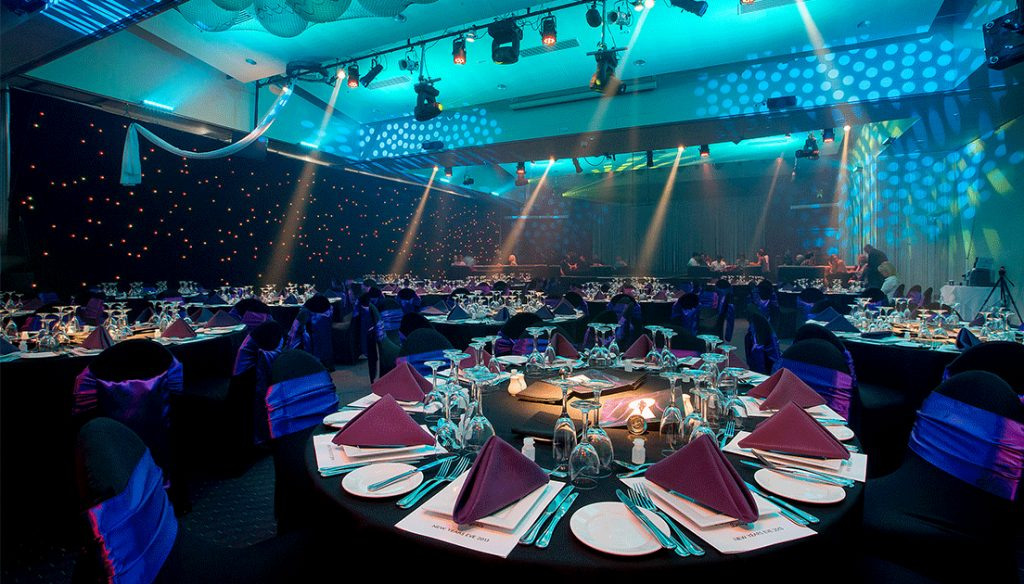 Gala dinner with round table layout