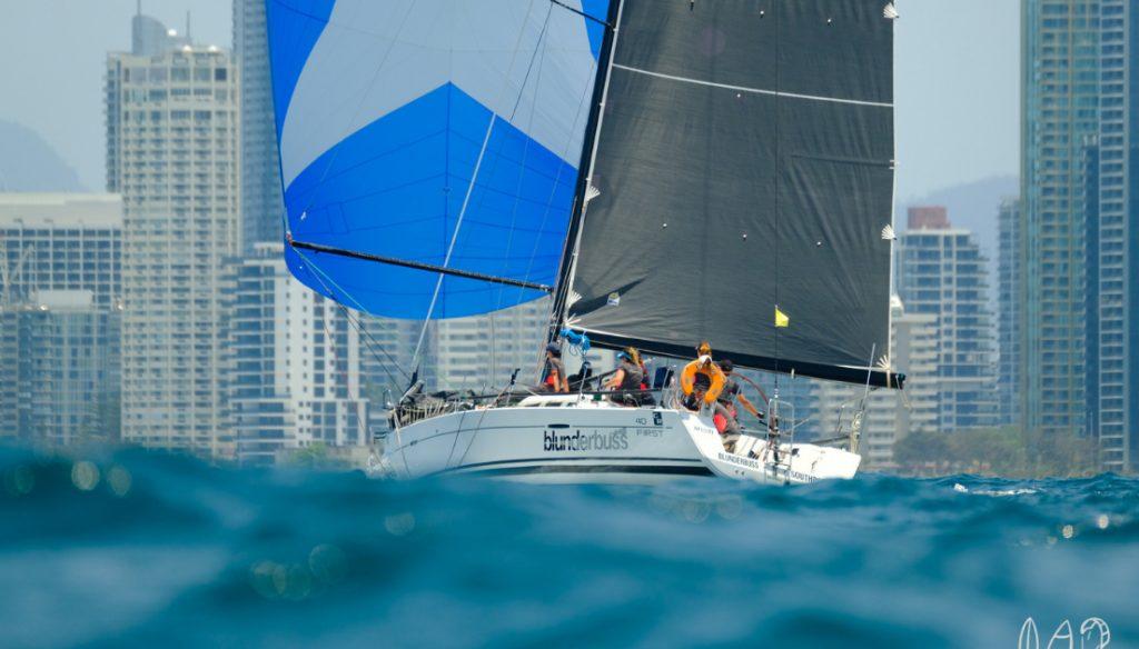 Sailing off the Gold Coast