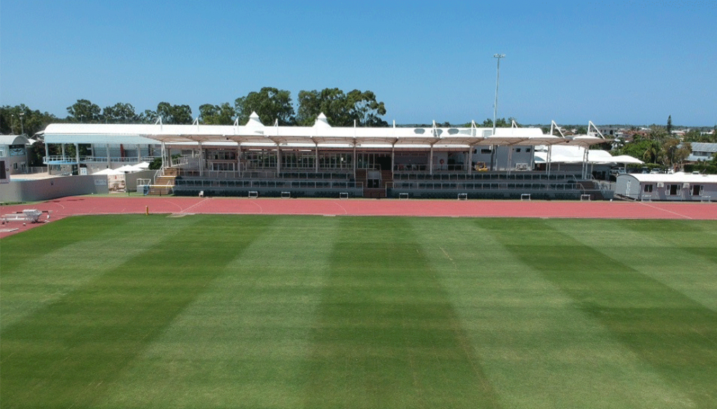 International Track and Field Stadium with a multi-purpose infield
