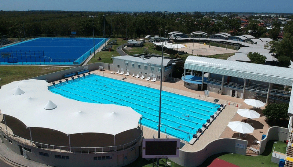 Outdoor Pool and Grandstand