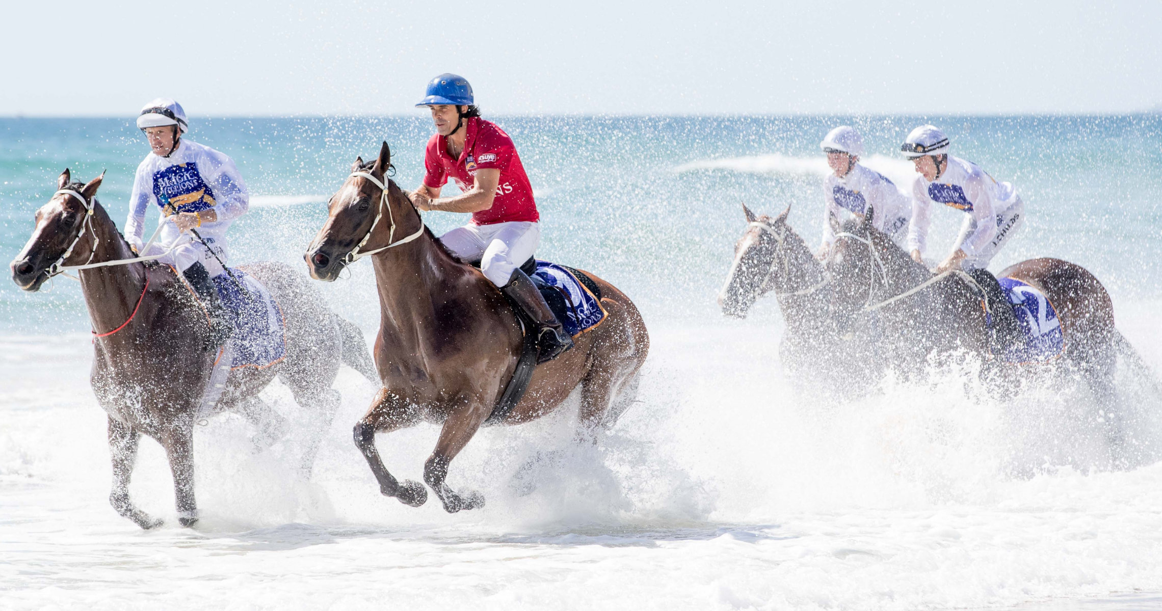 The Magic Millions Raceday and Thoroughbred Beach Run are good to go.