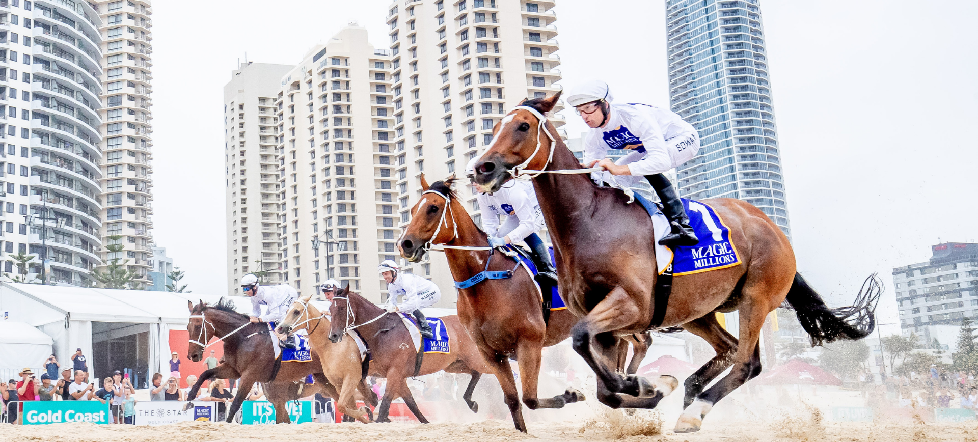 The Star Gold Coast Magic Millions Barrier Draw and Beach Run