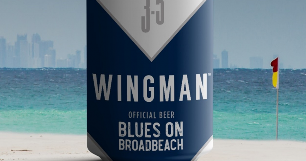 Wingman Blowing the froth off